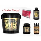 100% Whey Professional Gold's Nutrition 5 kg Proteine Siero Cioccolato + Bcaa 100cps + CREATINA Scitec Nutrition 100g + OMAGGI
